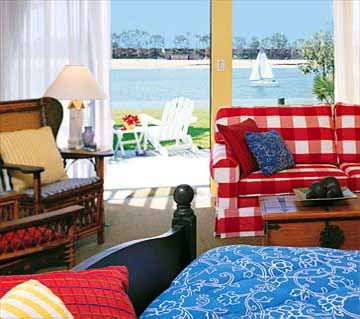 Guestroom at the Paradise Point Resort